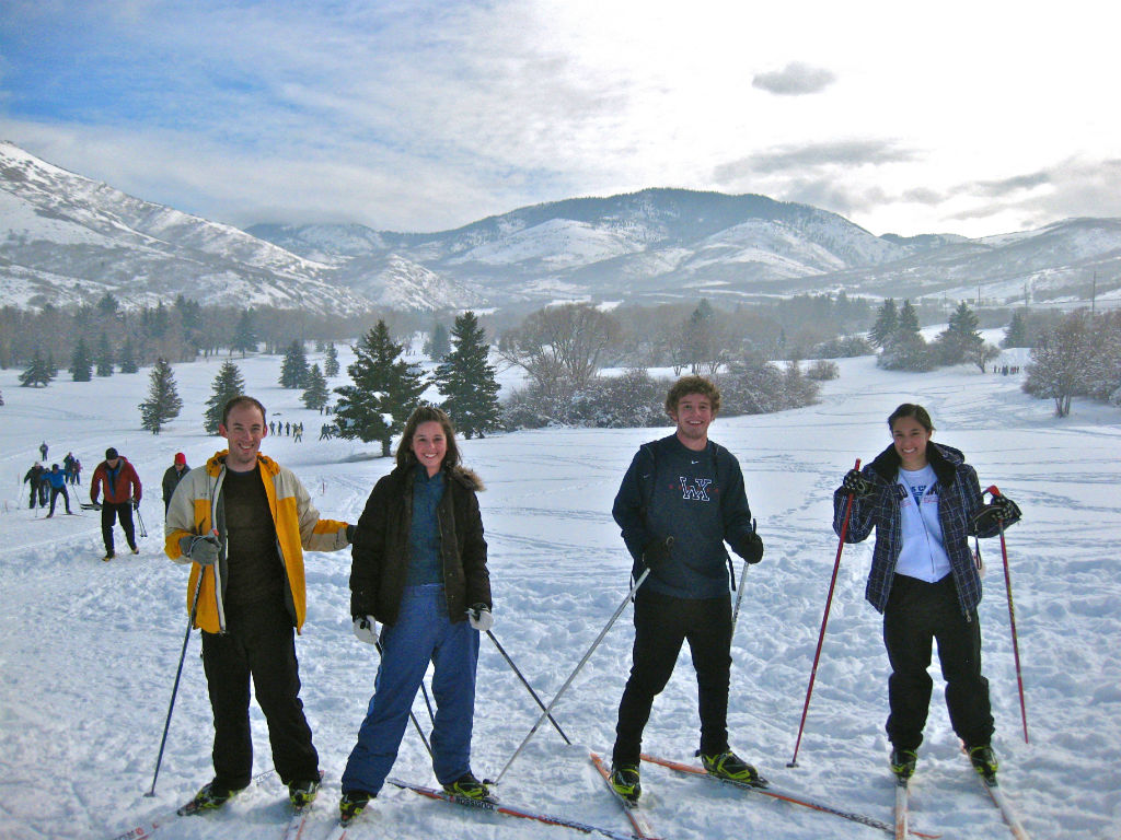 Skate Skiing Mountain Dell