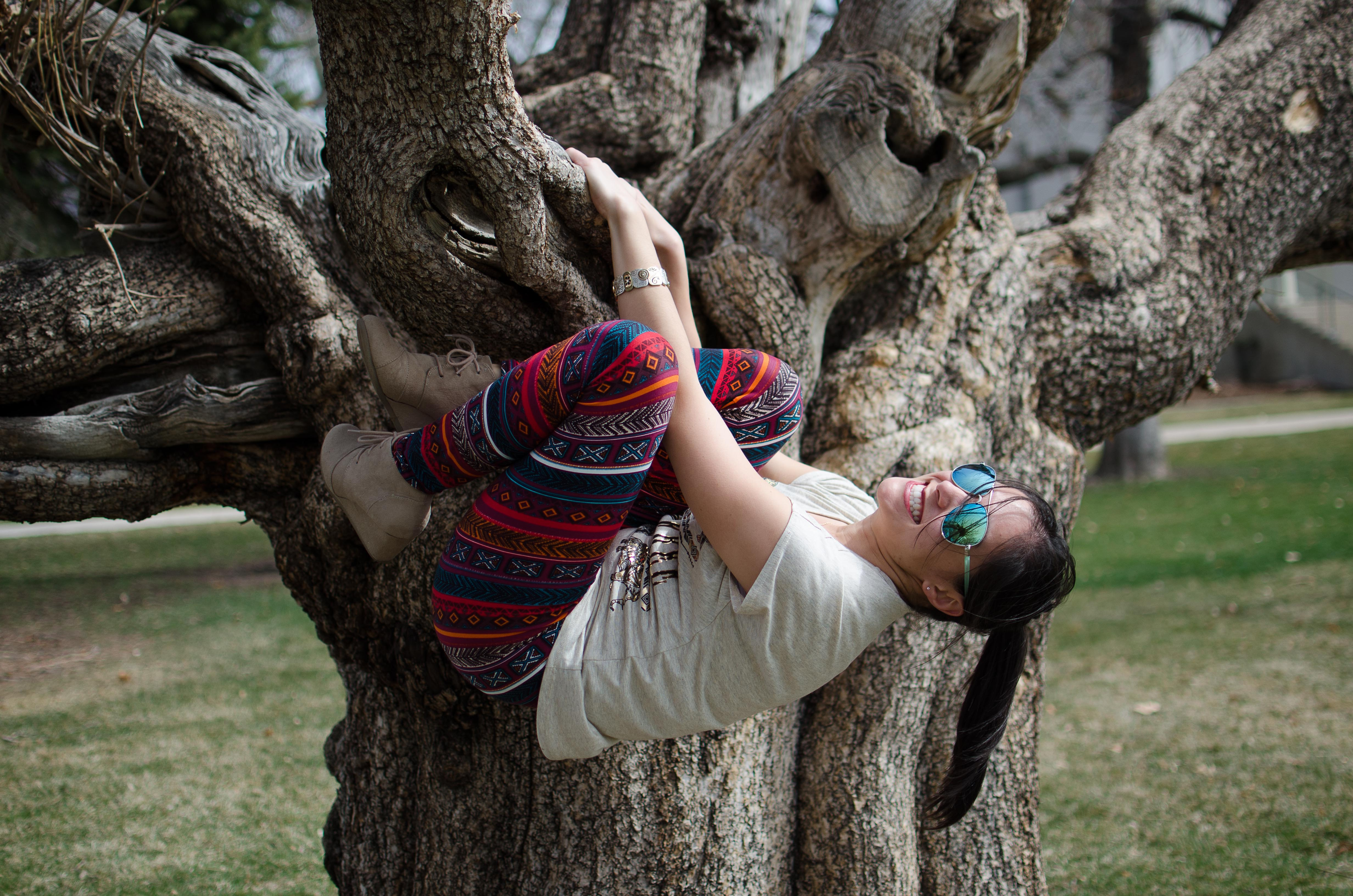 Would I look better if I just climbed this stupid tree?