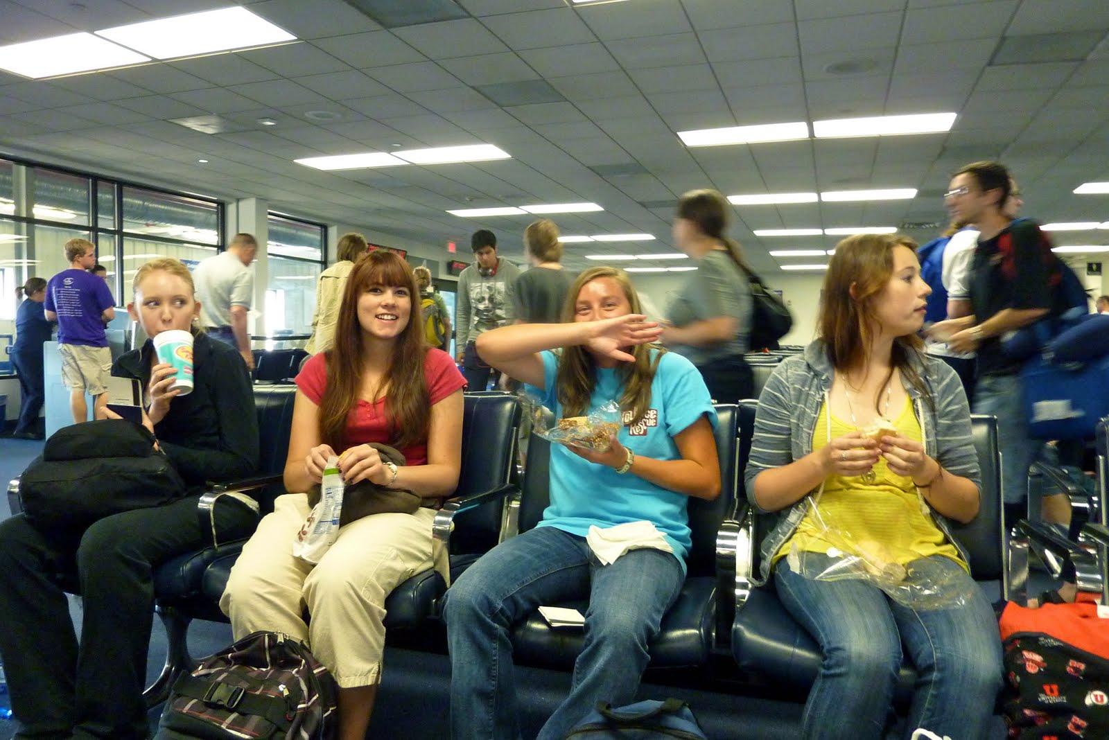 Melissa, Jessi, and Jamie eating their chocolate mooses